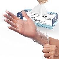 Merrimen   Gloves, disposable gloves, Multi purpose & extra strong, Powder free vinyl gloves, Box of 100