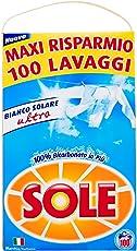 Sole Bianco Solare Detersivo Lavatrice Polvere, 100 Lavaggi
