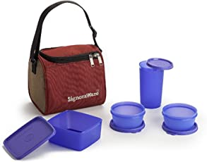 Signoraware Plastic Lunch Box with Insulated Bag Set