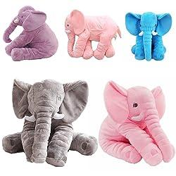 WARMTOWE Almohada de Elefante Coj n de Tiro Elefante Durmiente Peluche Animales de Peluche Felpa Abrazando Almohadas Juguete Su