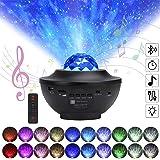 stjärnhimmel projektor, LED-projektor stjärnhimmel lampa med fjärrkontroll stjärnstjärna mån/vattenvågseffekt/Bluetooth-högta