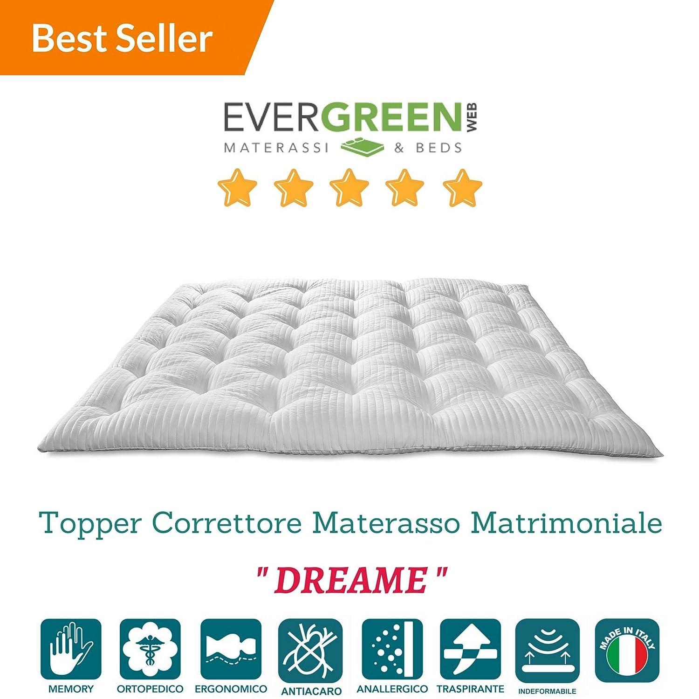 Evergreenweb Materassi.Topper Correttore Materasso In Memory Foam Med Coprimaterasso H