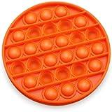 Narsam Pop It Bubble Fidget Toy, Gioco Antistress Rilassante per Adulti e Bambini (Arancione (Cerchio))