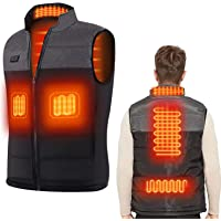 Heated Vest with 3 Adjustable Temperature USB Rechargeable Heating Body Warmer Vest for Outdoor Motorcycle Riding…
