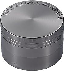 LIHAO Pollen Grinder Crusher für Tabak,Spice,Kräuter,Gewürze,Herb,Kaffee 4-Teiliges Set mit Pollen Scraper (Nickel-Schwarz)