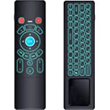 Mini Wireless Keyboard/Air Remote Control/Mouse/Touchpad with Colorful Backlit, 2.4GHz Connection, Best for Android TV Box, H