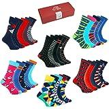 TWO LEFT SOCKS Calcetines Divertidos Estampados Coloridos 5 pares Caja de Regalo Hombres Mujeres Niños