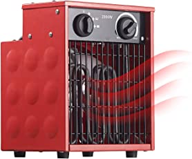 AGT Bauheizlüfter: Profi-Industrie-Elektro-Heizlüfter mit 2.000 Watt und 2 Heizstufen (Industrieheizer)
