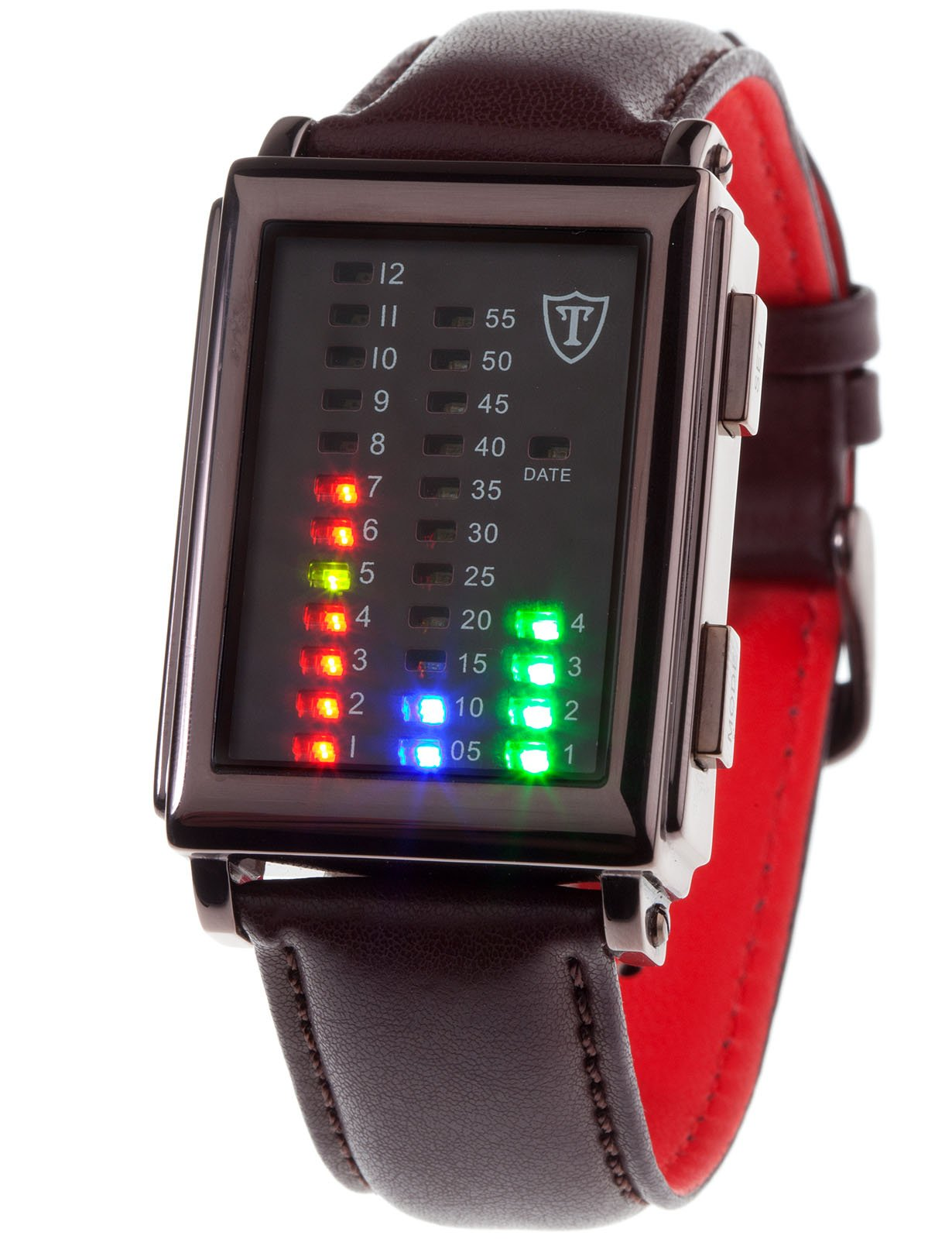 DETOMASO Spacy Timeline 1 – Reloj Forza Di Vita para hombre, color marrón