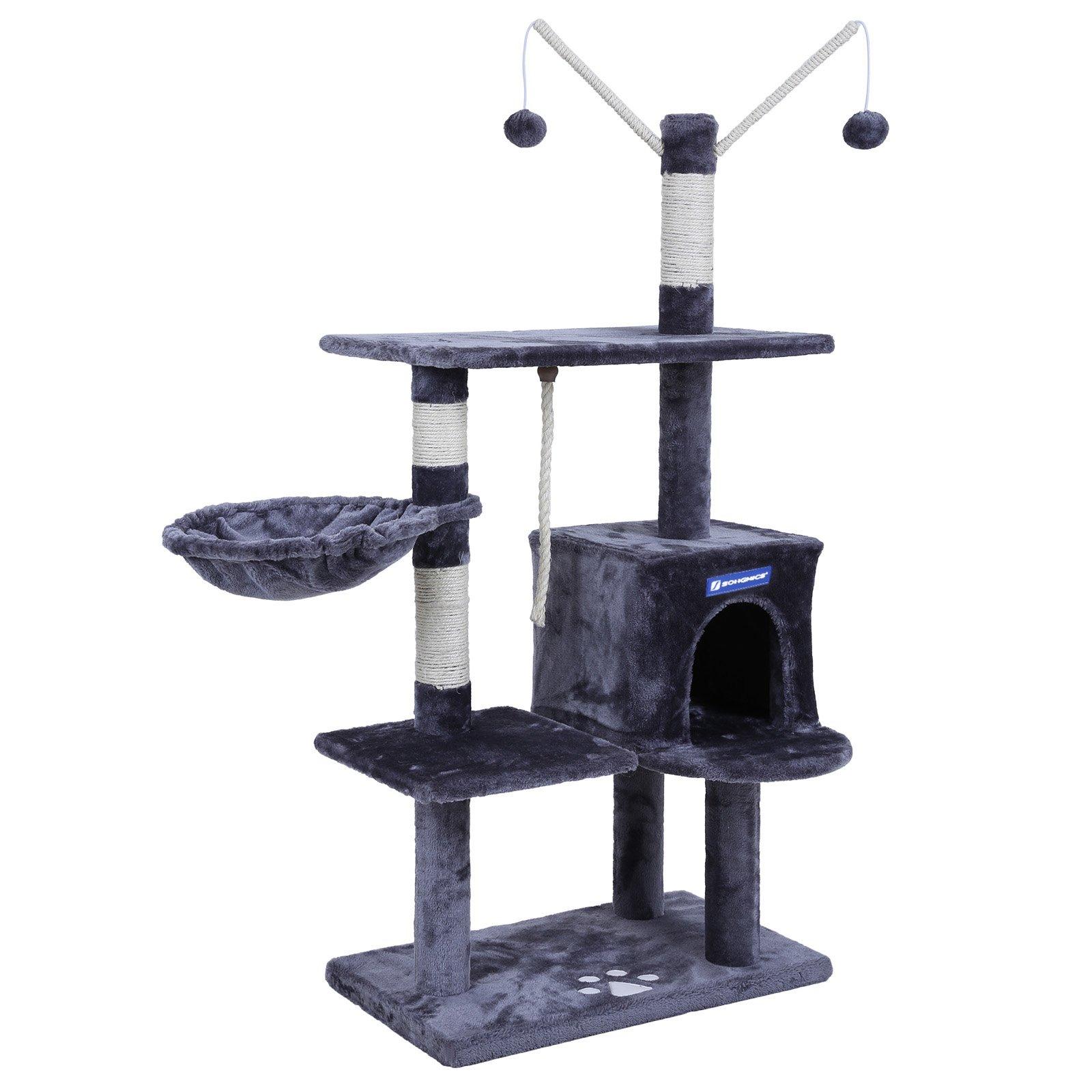 FEANDREA Árbol para Gatos Rascador con nidos Plataformas Bolas de Juego Gran Base 134 cm PCT35G