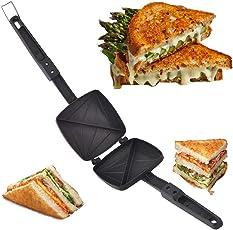 Kriya enterprises DIY Nonstick Griller Sandwich Gas Toaster (Black, 1160)