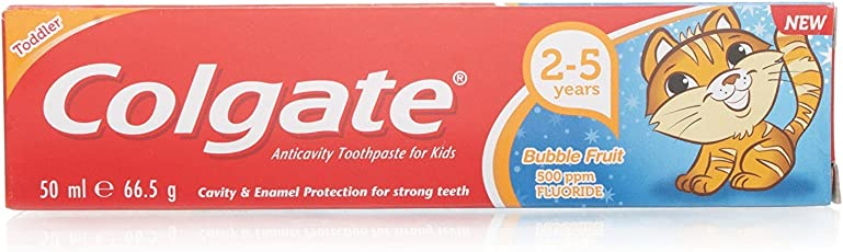 Colgate Toodler Anticavity Bubble Fruit Toothpaste 50Ml for Kids 2-5Years