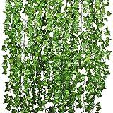 YQing 12 Stukken Kunstmatige Klimop Guirlande, klimop Wijnstokken Planten Ivy Garland Bruiloft Home Keuken Tuin Kantoor Bruil