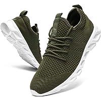 Damyuan Hommes Chaussures de Course Marche Sport Casual Athlétiques Mode Gymnastique Sneaker Confortable Travail…