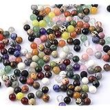 AMAHOFF halfedelstenen sieraden zelf makenset met 110 stuks mix halfedelstenen parels 8 mm sierstenen parels helende stenen p