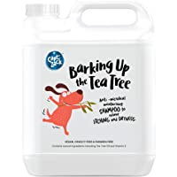 Captain Zack - Barking Up The Tea Tree – Anti-Fungal, Anti-Bacterial & Anti-Dandruff Dog Shampoo, Relieves Itching, Paraben Free, No Artificial Fragrance & Cruelty Free – 4 litres