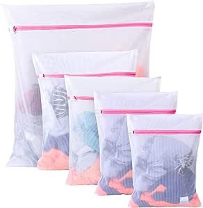 BoxLegend Filet à Linge Sacs en Tissu pour la lessive - Paquet de 5 (1XL+ 2L + 2 M) réutilisation, Sac de Machine à Laver résistant pour Blouse, Bas, Dessous, Soutien-Gorge, Lingerie