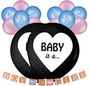 Gender Reveal Balloon Boy Or Girl Balloon Balloons Girls Or Boys Gender Reveal Party Baby Shower Party Decorations Küche Haushalt