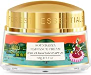 Forest Essentials Soundarya Radiance Cream with 24K Gold, 50g