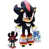 Shadow the Hedgehog 35cm Peluche Sonic X Echidna Bambola Nero Videogiochi Sega