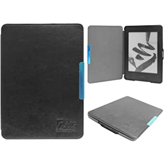 DMG Ultra Slim Leather Smart Wake Sleep Folio Flip Book Cover Case for Amazon Kindle Paperwhite All New Kindle…