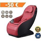 GURU Fauteuil de massage et relax - Rouge (modèle 2019) – 3 modes massage – Son surround 3D - Fauteuil massant avec fonction Bluetooth et port USB - Garantie Officielle 2 ANS de GLOBAL RELAX® France