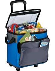 AUS Thermo Insulated Picnic Cooler Bag (35 Can Capacity) with Trolley by Vishal Enterprise