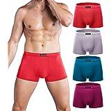 wirarpa Calzoncillos Bóxers Hombre Microfibra Ropa Interior Multicolor Underwear Trunks
