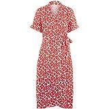 PIECES Pcamice SS Midi Wrap Dress Vestito Donna