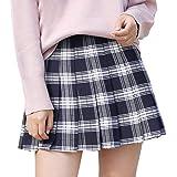 BOLAWOO-77 Falda A Cuadros De Otoño Invierno Faldas De Damas Mode De Marca Ladys para Hombre Falda Plisada Corta Falda De Uni