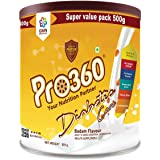 Pro360 Diabetic Protein Powder Nutrition Health Drink Supplement For Diabetes Care - Real Badam Flavour 500G - No Added Sugar