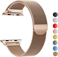 VIKATech Correa de Repuesto Compatible con Apple Watch de 44 mm, 42 mm, 40 mm, 38 mm, Milanese Loop Correa de Repuesto...