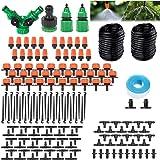 BAIYI Irrigatiesysteem Tuin, 30M Druppelirrigatie Kit Automatische Irrigatie Micro Sprinkler Struik Drip Kit Tuin Irrigatie v