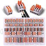 60 piezas conectores eléctricos con palanca de operación, 20 terminales de 2 vías, 30 terminales de 3 vías, 10 terminales de