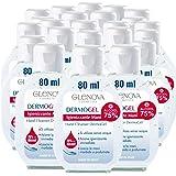 24 Flaconi Gel per Mani GLENOVA 80ml Alcool 75% Igienizzante Antibatterico Profumato Tascabile Sanificante Alcolico Efficace