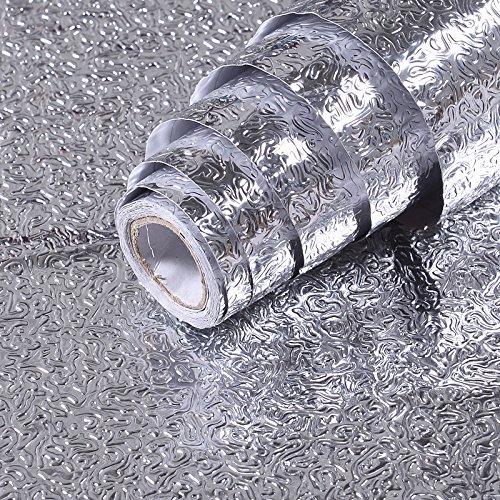 L'huile de cuisine avec autocollants autocollants autocollants autocollant Lampblack Moisture-Proof Armoires aluminium est de 5 mètres de long et 0,6 mètres de large gamme haute température * (3 mi), treize