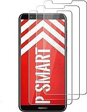 LONGYY [3 Stück] Panzerglas für Huawei P Smart Displayschutzfolie, Schutzfolie für Huawei P Smart, 9H Härtegrad, 99% Transparenz, Anti-Kratzen, Einfaches Anbringen