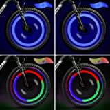 TAGVO 4pz Luce del Raggio della Bici, luci del Raggio della Ruota per Entrambi i Bambini Bike per Bambini, Luce del Gas del L
