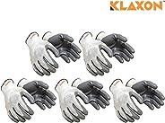 Klaxon Nylon Safety Hand Gloves (Pair 5) …