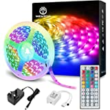WenTop Led Strip Lights with Remote 5m, Led Lights for Bedroom, Home, Wall, Party, Lighting and Decorative, SMD 5050 RGB…