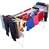 Kurtzy Steel Foldable Laundry Hanger Cloth Dryer Stand for Balcony, Indoor and Outdoor