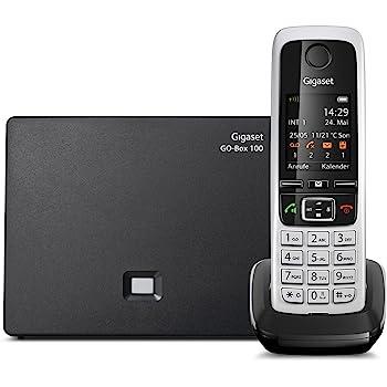 Gigaset C430A Go Telefon - Schnurlostelefon / Mobilteil - mit TFT-Farbdisplay / Dect-Telefon - mit Anrufbeantworter / Freisprechfunktion - IP Telefon - Schwarz