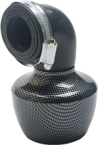 Evermotor Universal Doppelschicht Stahl Filter Luftfilter Rot 52mm 53mm 54mm f/ür Motorrad Scooter ATV Moped Roller