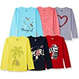SOUTH SAILOR Girl's T-Shirt(Pack of 6)