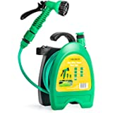 GloBrite Light Hose Pipe Reel for Garden with 10 meters/32 feets hose and Accessories for Irrigation, for Watering Pots, Balc