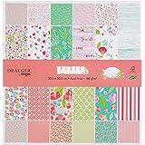 Toga Papier 30 x 30 Scrapbooking, Rose et Vert, 30,5 x 30,5 cm
