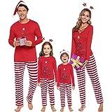 iClosam Pijamas De Navidad Familia Conjunto Pantalon y Top Mujer Hombre Niños Niña Camisetas De Manga Larga Sudadera Chándal