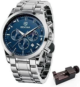 BY BENYAR - Eleganti Orologi Uomo | Cronografo Uomo | Movimento Quarzo | Regalo perfetto per ogni occasione