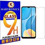 Kartronics Compatible with Oppo A15S Premium Tempered Glass Screen Protector Slim 9H Hard 2.5D with Full Installation Kit and