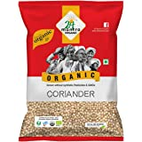 24 Mantra Organic Coriander Seed whole/ Sabut Dhaniya/ Dhaniya whole, 100g